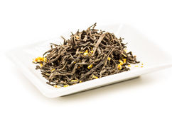 Czarnego kwiatu herbaciani liście Obraz Stock
