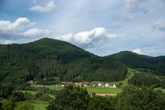 Czarnego lasu krajobrazy w Germany Obrazy Royalty Free
