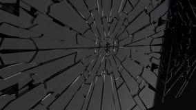 Czarnego Piątku przełamu szklana animacja, 3d rendering Obraz Stock