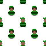 Czarnego pirat dziewczyny Avatar Bezszwowy wzór Zdjęcie Stock
