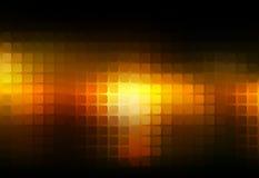 Czarnego pomarańczowego koloru żółtego abstrakta mozaiki zaokrąglony tło ilustracji