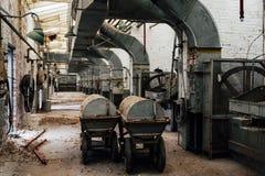 Czarnego proszka fury Zaniechanego Indiana wojska Amunicyjna zajezdnia - Indiana - Disused melanżeru dom - obrazy royalty free
