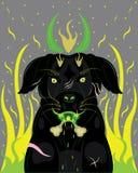 Czarnego psa demon Obrazy Royalty Free