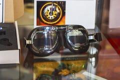 Czarnego Retro rocznika Leathern gogle zdjęcie stock