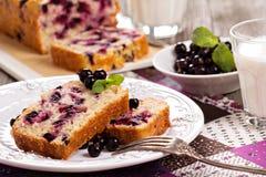 Czarnego rodzynku bochenka tort Zdjęcie Royalty Free