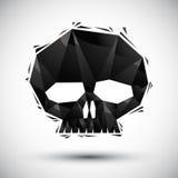 Czarnego scull geometryczna ikona robić w 3d nowożytnym stylu dla use, dobrze Fotografia Royalty Free