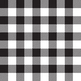 Czarnego tablecloth bezszwowy wzór Fotografia Stock