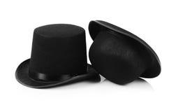 Czarnego tophat odgórny kapelusz Zdjęcia Stock