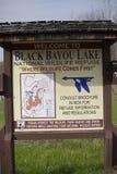 Czarnego zalewiska terenu Łowiecki znak zdjęcie royalty free