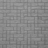 Czarnej ściana z cegieł płytki bezszwowy tło Zdjęcia Stock