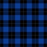 Czarnej, błękitnej i białej szkockiej kraty bezszwowy wzór, Fotografia Royalty Free