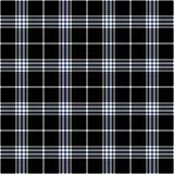 Czarnej, błękitnej i białej szkockiej kraty bezszwowy wzór, royalty ilustracja