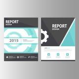Czarnej błękitnej technologii sprawozdania rocznego prezentaci szablonu elementów ikony płaski projekt ustawia dla reklamowej mar Obraz Stock
