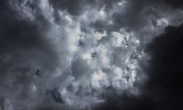 Czarnej chmury tło Fotografia Royalty Free