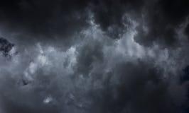 Czarnej chmury tło Obrazy Stock