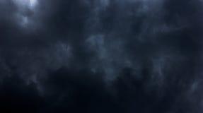 Czarnej chmury tło Zdjęcia Royalty Free