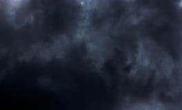 Czarnej chmury tło Fotografia Stock