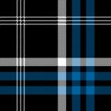 Czarnej czeka piksla kwadrata tkaniny tekstury bezszwowy wzór Zdjęcia Stock