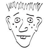 czarnej doodle twarzy głupi biały Obraz Royalty Free