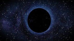 Czarnej dziury Grawitacyjny Singularity Rusza się Przez wszechświat ilustracji