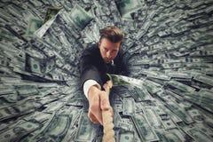 Czarnej dziury pieniądze zdjęcie royalty free