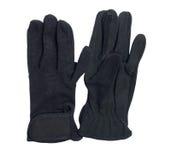 Czarnej gospodarki rękawiczki dla jechać odizolowywam na bielu Fotografia Royalty Free