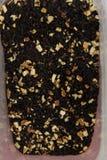 Czarnej herbaty luźni wysuszeni herbaciani liście, makro- Obrazy Royalty Free