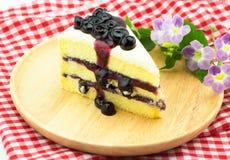 Czarnej jagody śmietanki Cheesecake obrazy royalty free