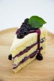 Czarnej jagody śmietanki Cheesecake zdjęcia stock