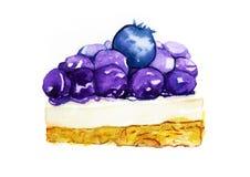 Czarnej jagody cheesecake Obraz Royalty Free
