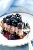 czarnej jagody cheesecake Zdjęcie Stock
