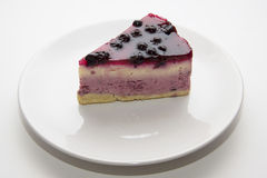 Czarnej jagody cheesecake 03 Zdjęcia Royalty Free