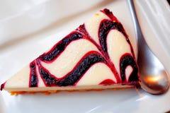 Czarnej jagody Cheesecake Fotografia Stock