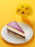 Czarnej jagody cheesecake Obrazy Stock