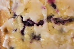 Czarnej jagody cytryny chleba zakończenie up Obraz Stock