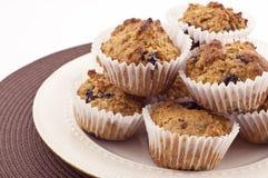 czarnej jagody muffins oatmeal Zdjęcie Stock