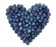 Czarnej jagody serce Obrazy Stock