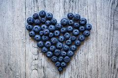 Czarnej jagody serce Obrazy Royalty Free