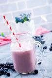 Czarnej jagody smoothie Zdjęcie Royalty Free