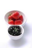 czarnej jagody truskawka Obraz Royalty Free
