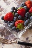 czarnej jagody truskawka Obrazy Stock