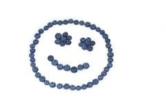 czarnej jagody twarzy smiley Obrazy Stock