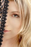 czarnej koronki Zdjęcie Royalty Free