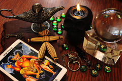 Czarnej magii elementy i symbole Obrazy Royalty Free