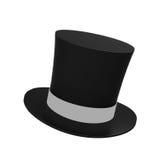 Czarnej magii kapelusz odizolowywający Fotografia Stock