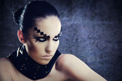 Czarnej magii kobieta. Obrazy Stock