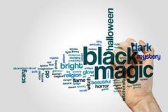 Czarnej magii słowa chmura Zdjęcie Stock
