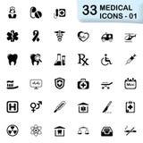 33 czarnej medycznej ikony 01 royalty ilustracja