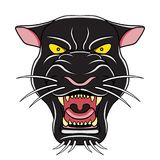 Czarnej pantery kreskówki głowy ilustracja Fotografia Stock