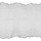 Czarnej rybak arkany sieci wektorowa bezszwowa tekstura odizolowywająca na bielu Fotografia Stock